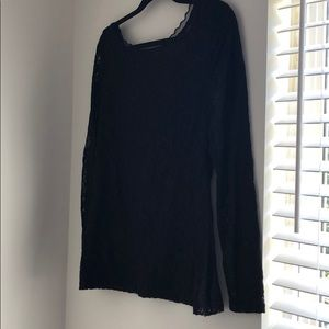 Black lace WHBM top